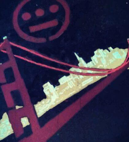 Stencil Golden Gate San Francisco Sticker