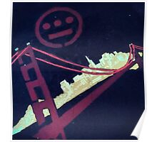 Stencil Golden Gate San Francisco Poster