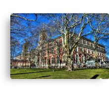 Welcome to Ellis Island Canvas Print
