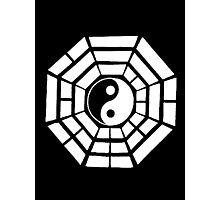 Pakua - Eight Trigrams design (White) Photographic Print