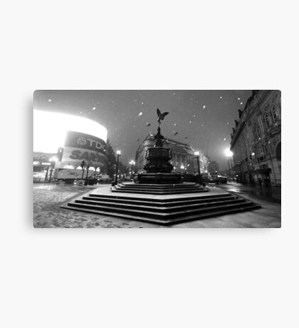 Piccadilly Snow Canvas Print
