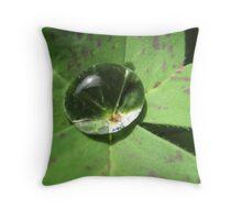 Raindrop in Cloverleaf Throw Pillow