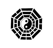 Pakua - Eight Trigrams design (Black) Photographic Print