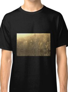 Autumn Morning at the Lake in Sepia Classic T-Shirt