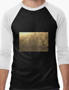 Autumn Morning at the Lake in Sepia Men's Baseball ¾ T-Shirt