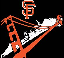 San Francisco Giants Stencil Black Background by dswift