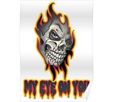 Cool Skull Design T-shirt Poster