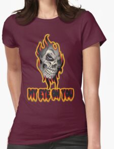 Cool Skull Design T-shirt Womens Fitted T-Shirt