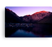 First Light, Convict Lake Canvas Print