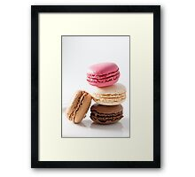 A stack of macaroons Framed Print