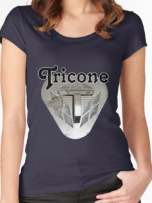 Tricone resonator guitar Women's Fitted Scoop T-Shirt