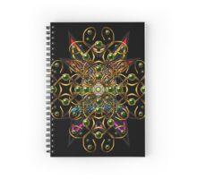 Golden star tangle Spiral Notebook