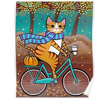 Autumn Bicycle Ride Poster