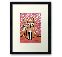 Fox in Neon Pink Framed Print