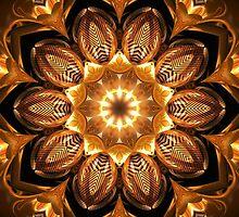 Golden Reflections Kaleidoscope 02 by fantasytripp