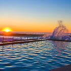 Sunrise At Avalon Pool by DRG2010