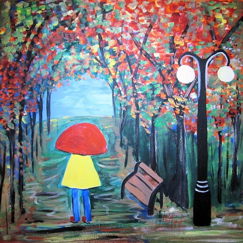 Girl in the Rain by GroovyGal