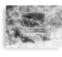 old chevy winter scene Metal Print