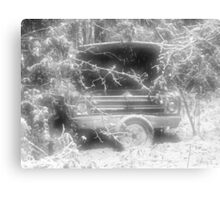 old chevy winter scene Canvas Print