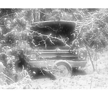 old chevy winter scene Photographic Print