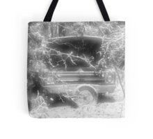 old chevy winter scene Tote Bag