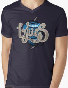 Keepin Blues Alive Mens V-Neck T-Shirt