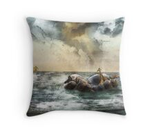 Noah's Ark Stragglers Throw Pillow