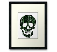 Digital Skull Framed Print