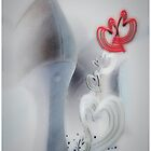 String of Hearts Chain © Valentines & Lovers by Vicki Ferrari