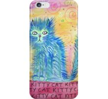 Funky Blue Kitty Cat iPhone Case/Skin