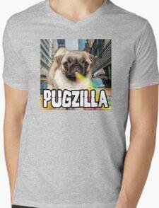 PUGZILLA Mens V-Neck T-Shirt