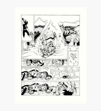 HSC Major Work Comic page 4 Art Print