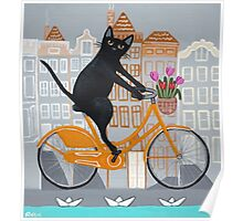 Amsterdam Bicycle Ride Poster