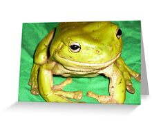 Grimy Green on GREEN! Greeting Card