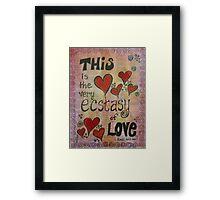 Ecstasy of Love Shakespeare Themed Mixed Media Framed Print