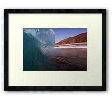 Sandspit Barrels Framed Print