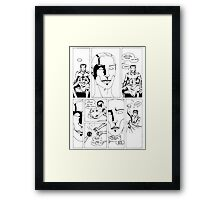 HSC Major Work Comic page 6 Framed Print