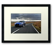 The awesome Evo X .... Framed Print