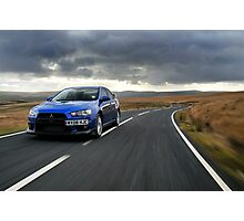 The awesome Evo X .... Photographic Print