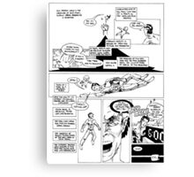HSC Major Work Comic page 10 Canvas Print