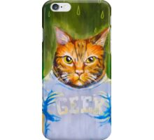 Geeky Cat iPhone Case/Skin