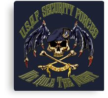 Security Forces Carpe Noctum Canvas Print