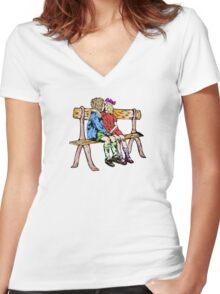 Two kids in love Women's Fitted V-Neck T-Shirt