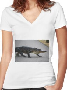 Gator Crossing Women's Fitted V-Neck T-Shirt