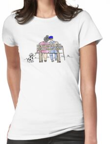 Elderly couple Womens Fitted T-Shirt