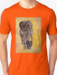 Mama and Baby Elephant Unisex T-Shirt