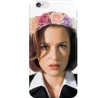 Gillian Anderson Dana Scully Fox Mulder X Files iPhone Case/Skin