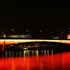 London Bridge Red Reflection by pixeljar