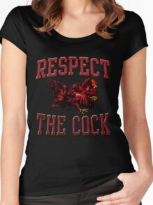 Respect The Cock Women's Fitted Scoop T-Shirt