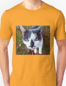 Green Eyed Pussy Cat Unisex T-Shirt